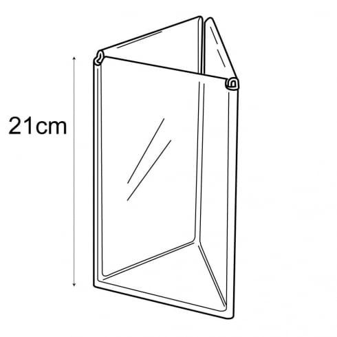 1/3 A4 3 sided menu holder (PETG sign holders)