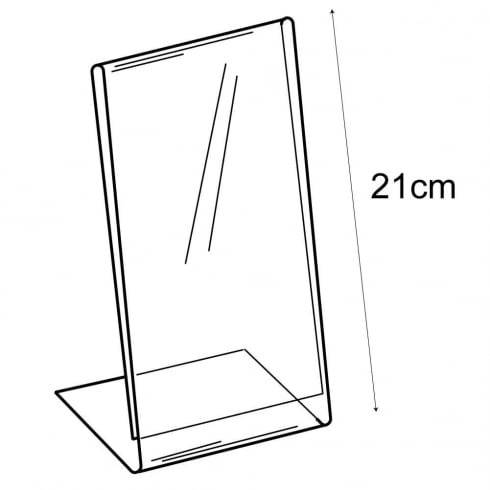 1/3 A4 budget angle sign holder-counter (PVC sign holder)