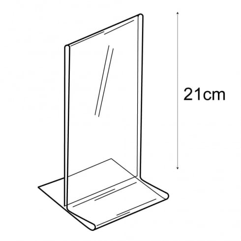 1/3 A4 budget vertical sign holder-counter (PVC sign holders)