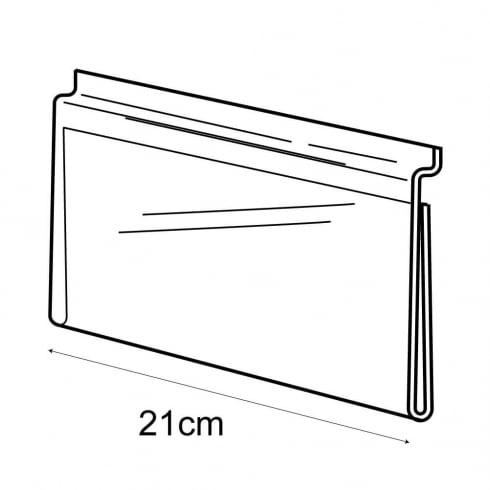 1/3 A4 landscape sign holder-slatwall (acrylic slatwall sign holder)