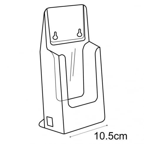 1/3 A4 leaflet holder-counter/wall (leaflet & brochure holders)