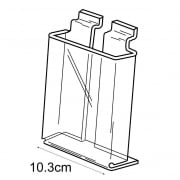 1/3 A4 leaflet holder-slatwall (acrylic leaflet holder)