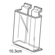 1/3 A4 leaflet holder-slatwall (acrylic leaflet holder)