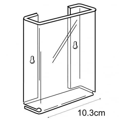 1/3 A4 leaflet holder-wall (acrylic brochure holders)