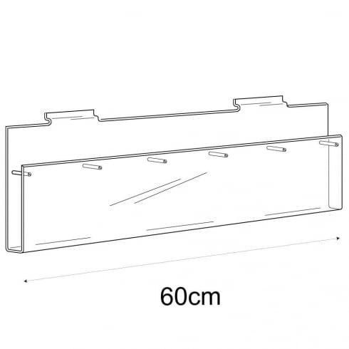 1/3 A4 multi leaflet holder-slatwall (acrylic brochure holder)