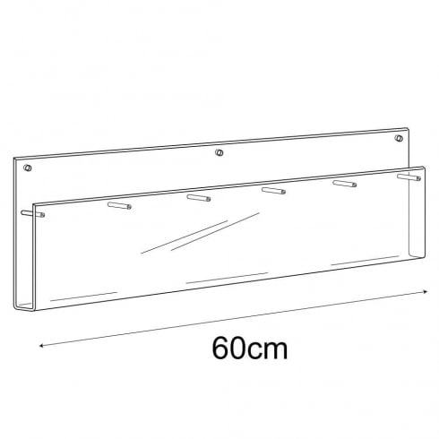 1/3 A4 multi leaflet holder-wall (acrylic brochure holders)