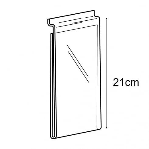 1/3 A4 portrait sign holder-slatwall (acrylic slatwall sign holder)