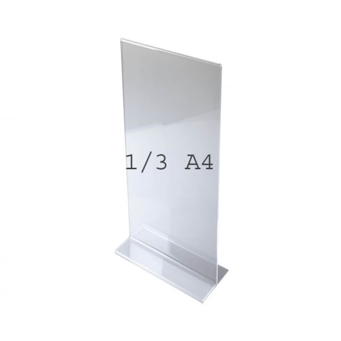 1/3 A4 vertical portrait sign holder-counter (acrylic sign holders)