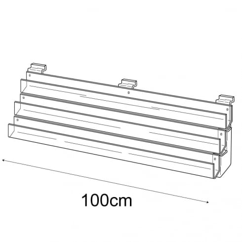 100cm card rack: 3 tier-slatwall (card rack for slatwall)