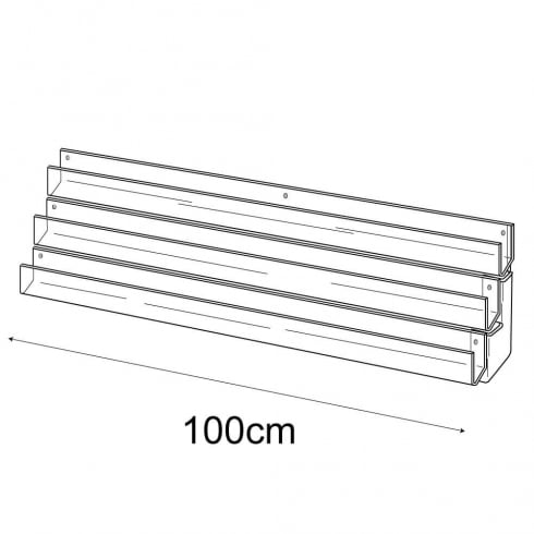 100cm card rack: 3 tier-wall (card rack & card display)