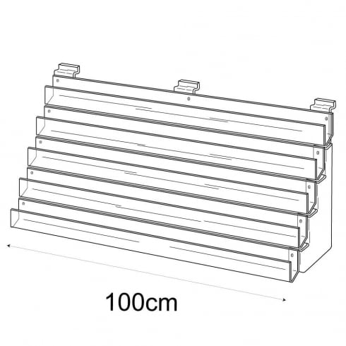 100cm card rack: 5 tier-slatwall (card rack for slatwall)