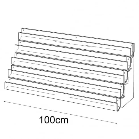 100cm card rack: 5 tier-wall (card rack & card display)