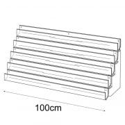 100cm card rack: 5 tier-wall (card rack & card display)