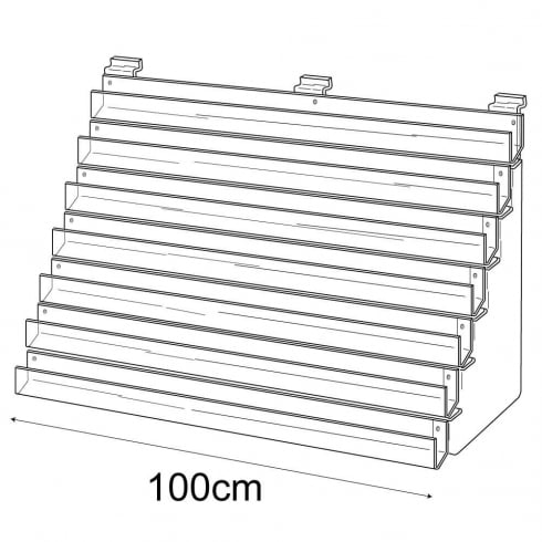 100cm card rack: 7 tier-slatwall (card rack for slatwall)