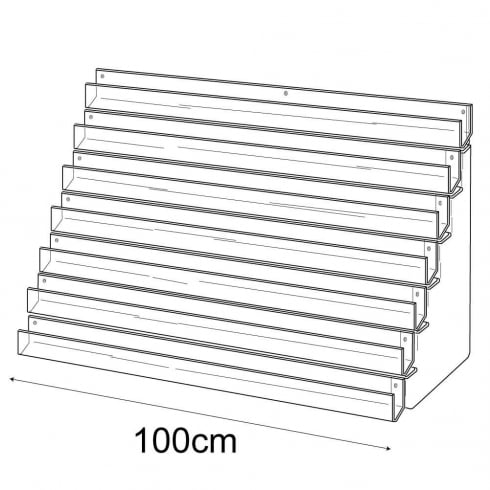 100cm card rack: 7 tier-wall (card rack & card display)