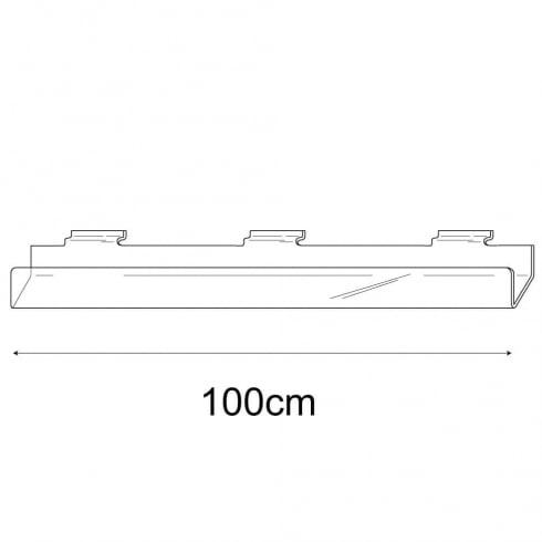 100cm card rack-slatwall (acrylic card rack for slatwall)