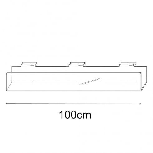 100cm deep card rack-slatwall (acrylic card rack for slatwall)