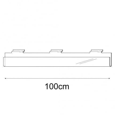 100cm exhibition card rack-slatwall (acrylic card rack for slatwall)