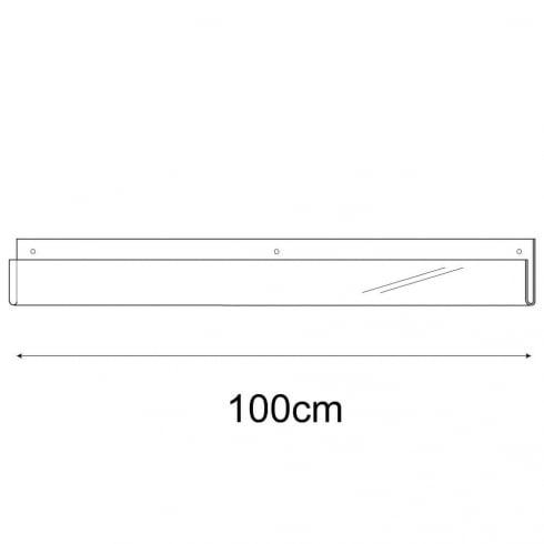 100cm exhibition card rack-wall (acrylic card display)