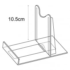 10cm adjustable support: pack of 10 (retail display & shop equipment)
