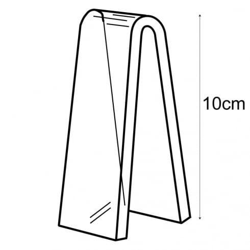 10cm heel rest (acrylic shoe display)