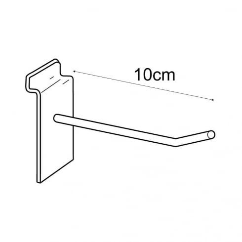 10cm prong-slatwall: pack of 100 (metal slatwall hooks & prongs)