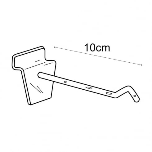 10cm safety prong-slatwall (plastic hooks & prongs for slatwall)