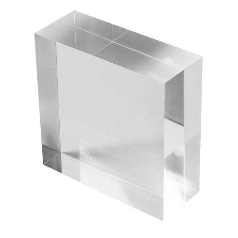 10cm solid acrylic block - featured