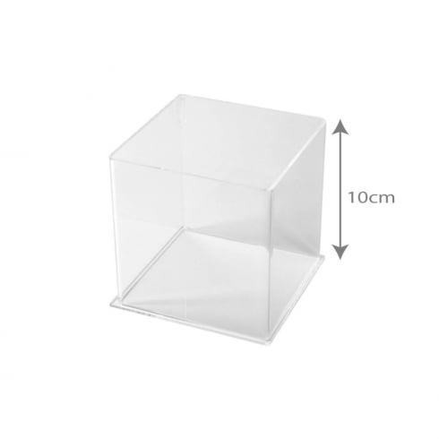 10cm square tub (acrylic tubs & containers)