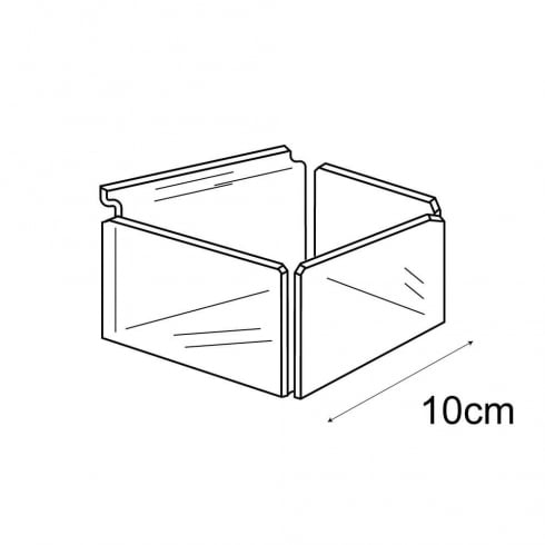 10cm tray-slatwall (acrylic containers & trays)