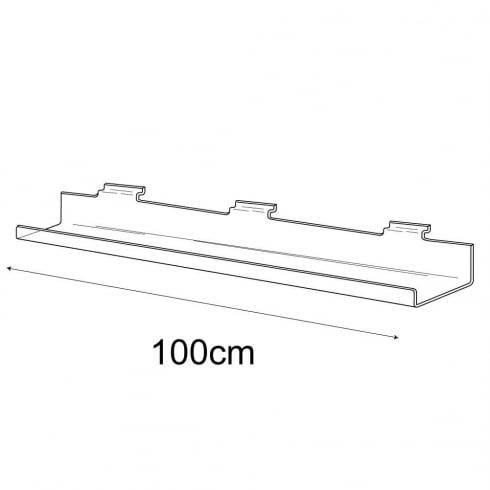 10cmx100cm lipped shelf-slatwall (slatwall acrylic shelf)
