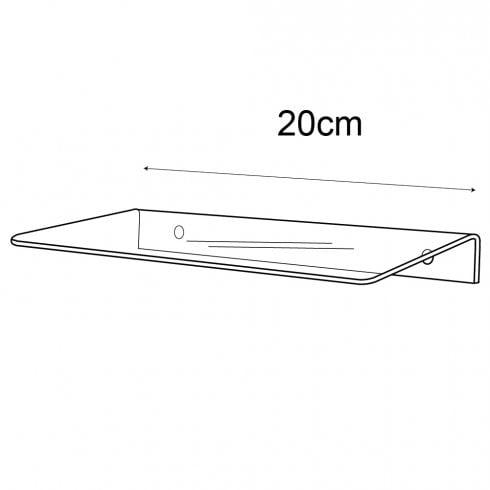 10cmx20cm shelf-wall (acrylic shelving)
