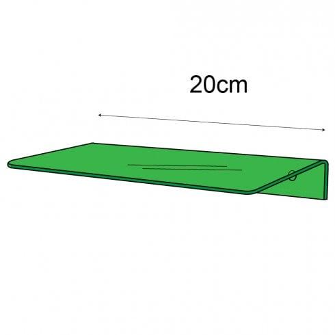 10cmx20cm shelf-wall (Perspex ® shelf)