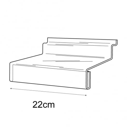 10cmx22cm shelf +sign holder-slatwall (acrylic shelves: slatwall)
