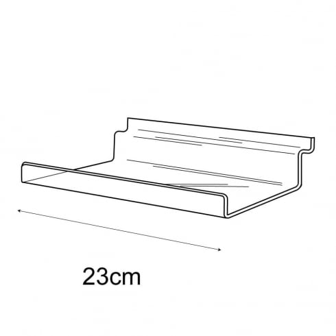 10cmx23cm lipped shelf-slatwall (slatwall acrylic shelf)