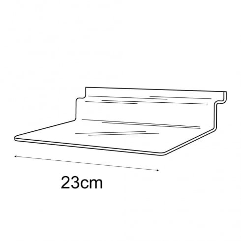 10cmx23cm shelf-slatwall (acrylic slatwall shelves)