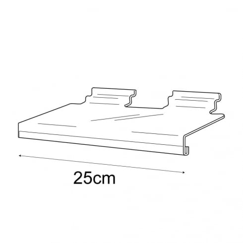 10cmx25cm shelf +sign holder-slatwall (shelving for slatwall)