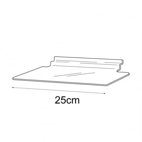 10cmx25cm shelf-slatwall (slatwall shelving)