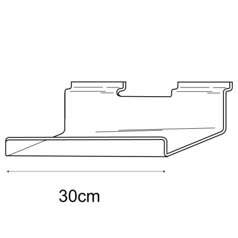 10cmx30cm lipped shelf-slatwall (slatwall acrylic shelf)
