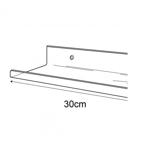 10cmx30cm lipped shelf-wall (Perspex shelf)