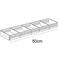 10cmx50cm tray: adjustable dividers (acrylic containers & trays)