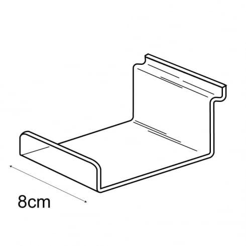 10cmx8cm lipped shelf-slatwall (slatwall acrylic shelf)
