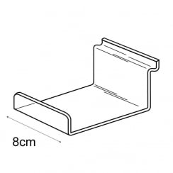 10cmx8cm lipped shelf-slatwall (slatwall acrylic shelf)