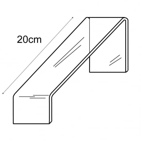 11cm sloping shoe platform (acrylic shoe stand)