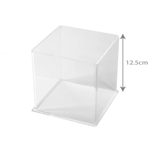 12.5cm square tub (acrylic tubs & containers)