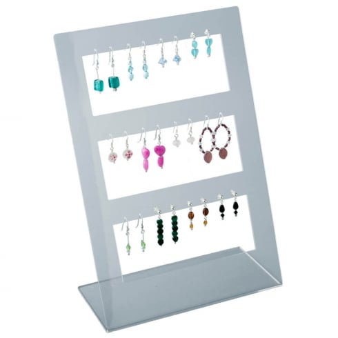 12 pair earring stand: all types of earrings (acrylic jewellery & earring display)