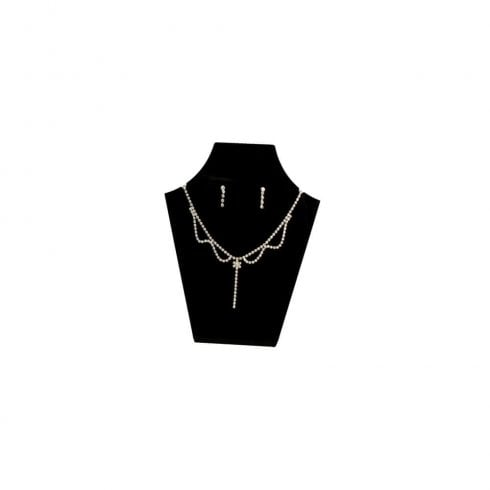 13cm necklet: flat front (acrylic necklet jewellery display)