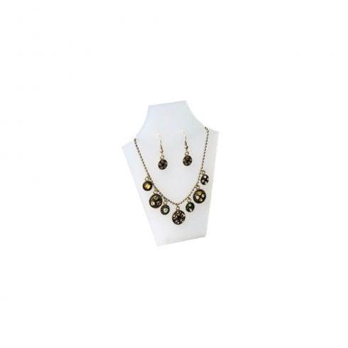 13cm necklet: flat front (acrylic necklet jewellery display)