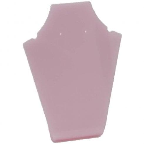 13cm necklet: flat front (Pink necklace display)