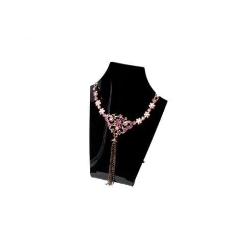 13cm Perspex necklet: curved front